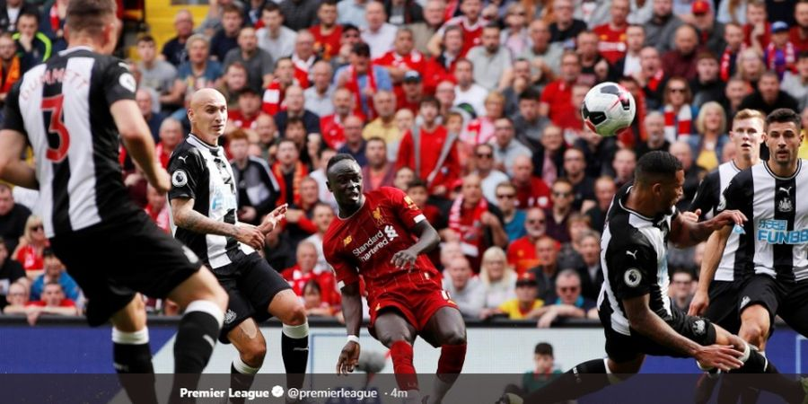 Salah dan Brace Mane Bawa Liverpool Masih Sempurna dan Hajar Newcastle
