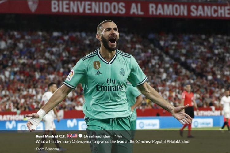 Gol Chicharito Dianulir, Real Madrid Kalahkan Sevilla Berkat Benzema
