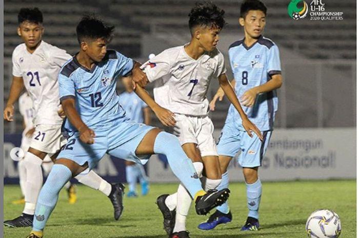 Pertarungan Timnas U-16 Filipina vs Timnas u-16 Kepulauan Mariana Utara