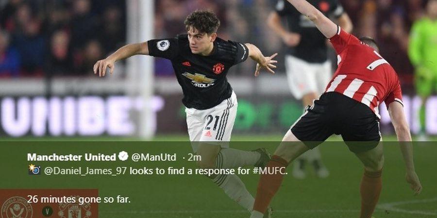 Hasil Liga Inggris - Drama 6 Gol, Man United Batal Bungkam Sheffield