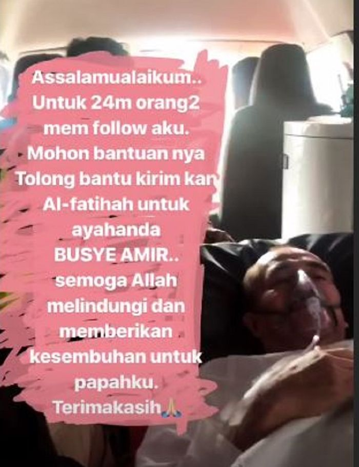 Ayah Laudya Cynthia Bella Jatuh Sakit Sang Aktris Mohon Doa Untuk