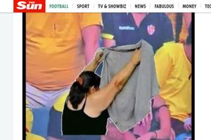 Terciduk Bermesraan Saat Nonton Bola, Laki-laki Ini Langsung Viral