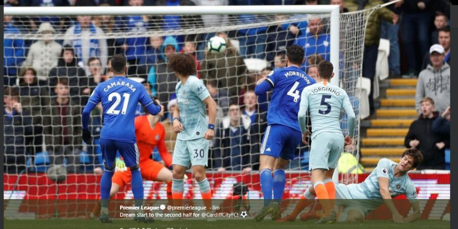 Hasil Akhir Cardiff Vs Chelsea - Gol Kontroversial Menangkan The Blues