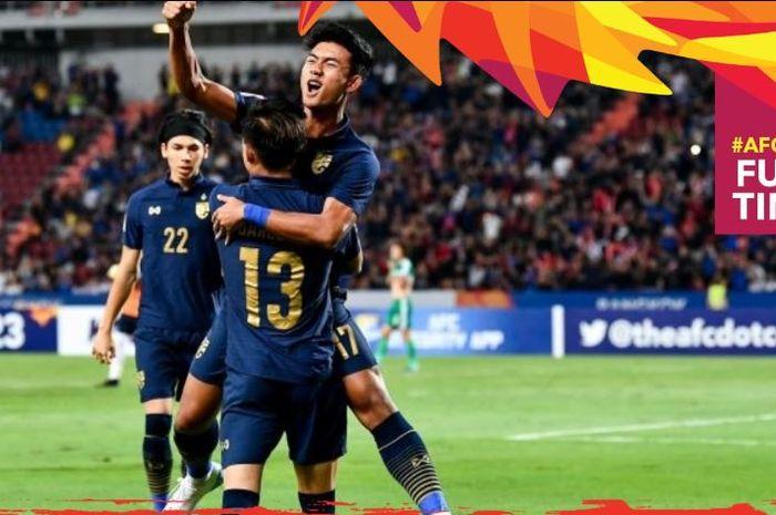 Timnas Thailand maju ke perempat final Piala Asia U-23 2020.
