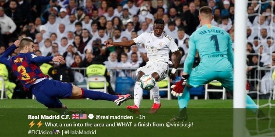 VIDEO - Gol Bersejarah Vinicius di El Clasico, Pecahkan Rekor Messi