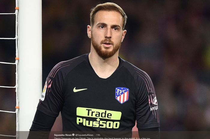 Kiper Atletico Madrid, Jan Oblak.