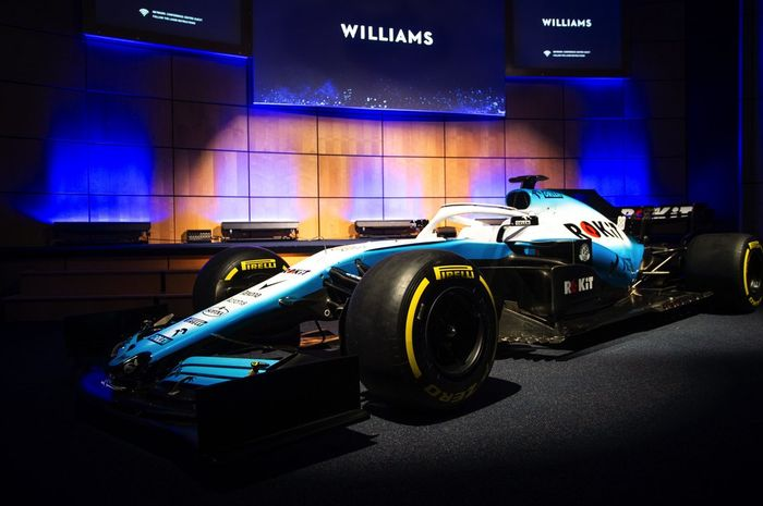 Tampilan mobil baru Tim Williams yang akan digunakan pada ajang Formula 1 (F1) musim kompetisi 2019.