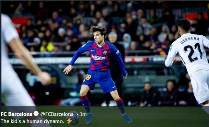 Laga Barcelona versus Granada di Camp Nou, Minggu (19/1/2020).