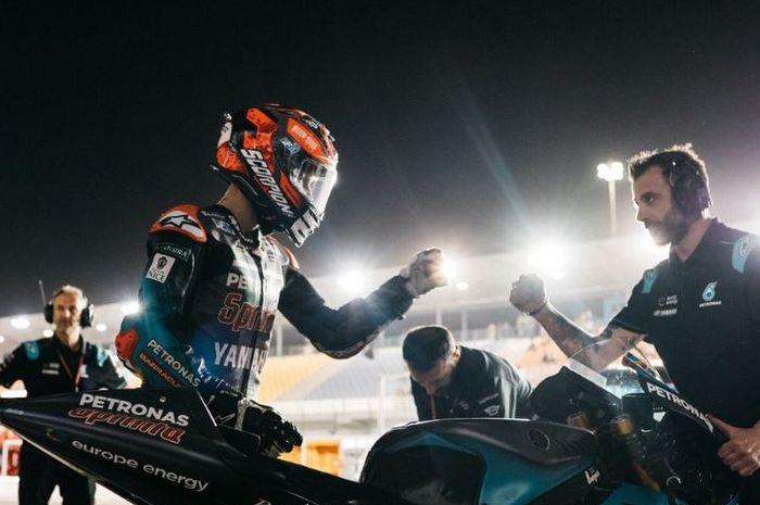 Pembalap tim Petronas Yamaha SRT, Fabio Quartararo saat persiapan jelang MotoGP Qatar (10/3/2019)