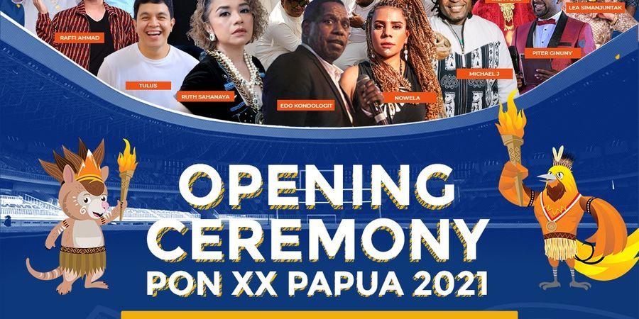 Sederet Nama Tenar Turut Meriahkan Pembukaan PON XX Papua 2021