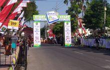 etape kedua bank bri tour d'indonesia menempuh jarak 163,4 km