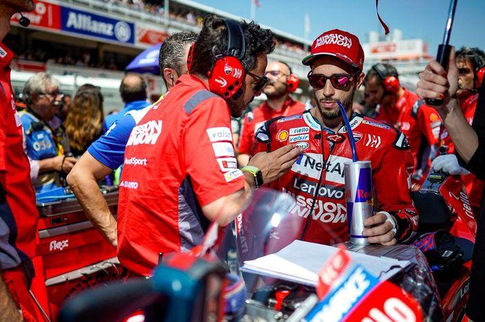 Andrea Dovizioso (Mission Winnow Ducati) mendapat kesialan saat tampil pada sesi balapan MotoGP Catalunya 2019, Minggu (16/6/2019)