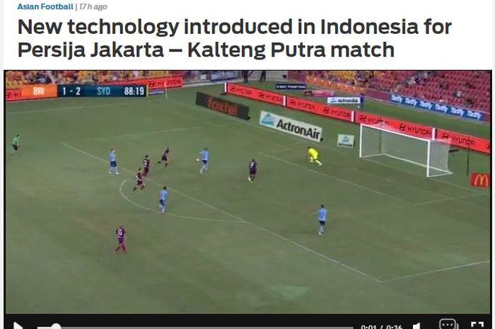 Fox Sports Asia mewartakan perkembangan baru pada laga Persija Jakarta melawan Kalteng Putra