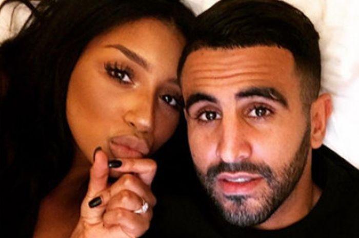 Riyad MAhrez dan sang istri, Rita Johal