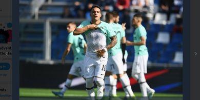 Drama 7 Gol, Brace Lukaku dan Lautaro Bawa Inter Milan Atasi Sassuolo