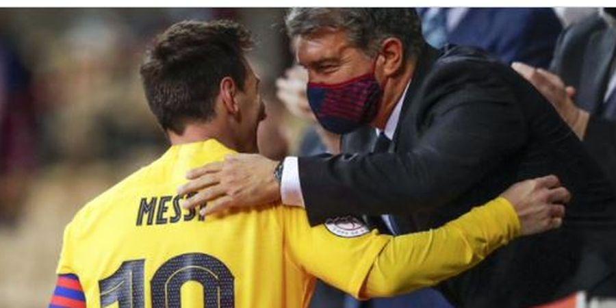 Bek Barcelona Tanggapi Kontrak Baru Messi, Sindir Presiden Real Madrid
