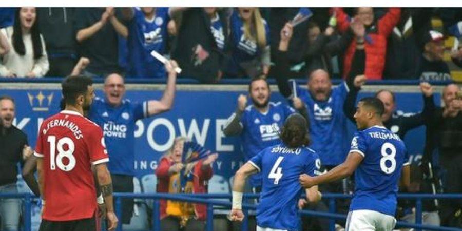 Hancur Lebur di Rumah Leicester City, Rekor Tandang Manchester United Patah