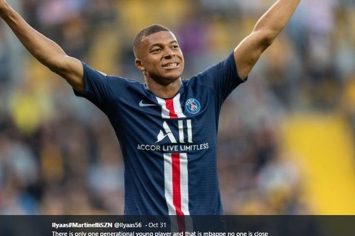 Penyerang muda Paris Saint-Germain, Kylian Mbappe, yang dikabarkan menjadi target utama Real Madrid.