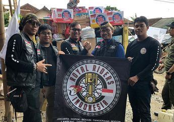 Patut Dicontoh, Komunitas Royal Enfield Ini Bantu Korban Tsunami di Banten dan Lampung