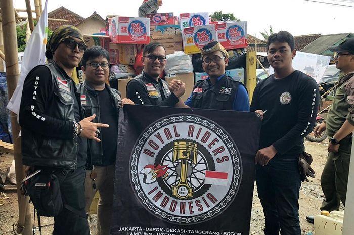 Komunitas Royal Enfield berikan bantuan untuk korban bencana di Banten dan Lampung