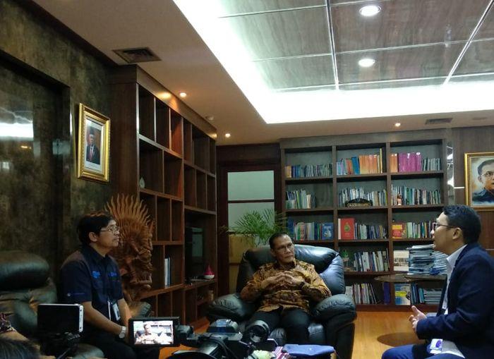 Kunjungan Kompas Gramedia Group ke kantor Kepala BPS, DR.Suhariyanto, Kamis (12/12/2019).