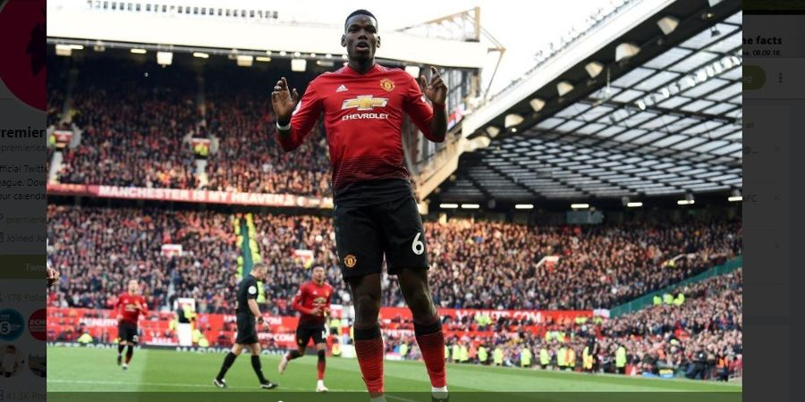 Hasil Liga Inggris - Dua Gol Penalti Pogba Bawa MU Salip Arsenal