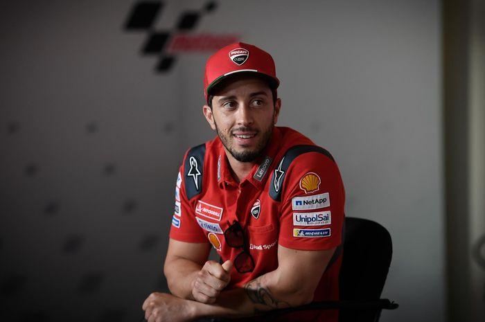 Pembalap Ducati, Andrea Dovizioso, pada konferensi pers jelang MotoGP San Marino 2020, Kamis (10/9/2020).