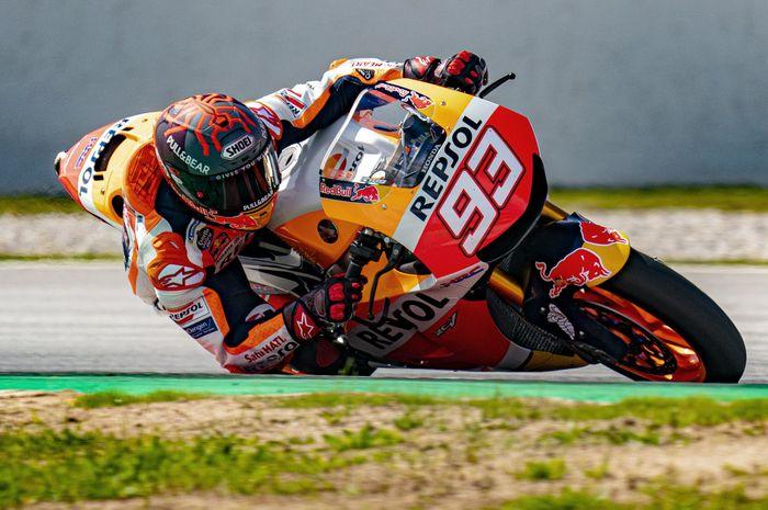 Pembalap Repsol Honda di kelas MotoGP, Marc Marquez.