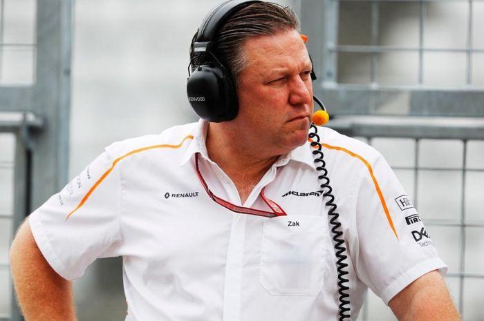 CEO tim McLaren, Zak Brown pede dengan 2 pembalap anyarnya