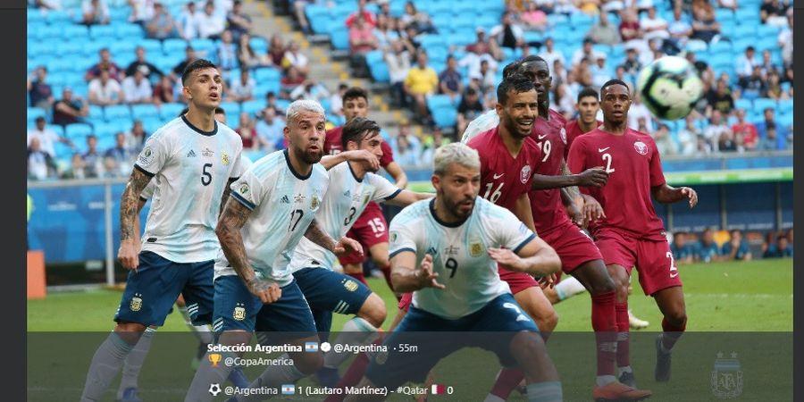 Hasil Copa America 2019 - Kalahkan Qatar, Argentina ke Perempat Final