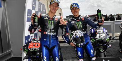 Link Live Streaming MotoGP Prancis 2021 - Quartararo dan Vinales Akhiri Penantian 4 Tahun Yamaha