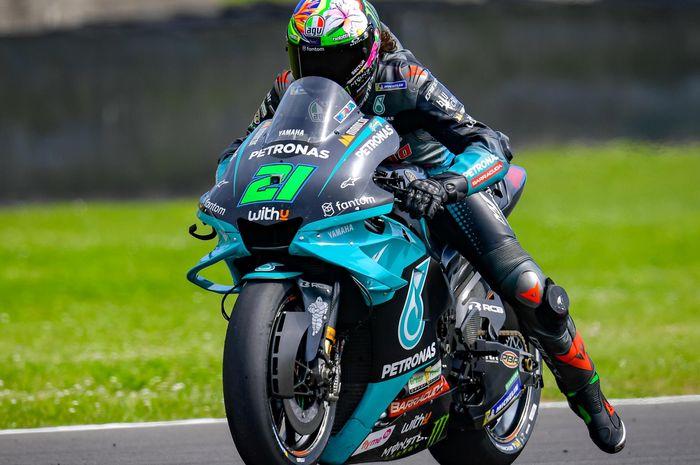 Franco Morbidelli mencoba holeshot device yang diberikan Yamaha pada MotoGP Italia 2021