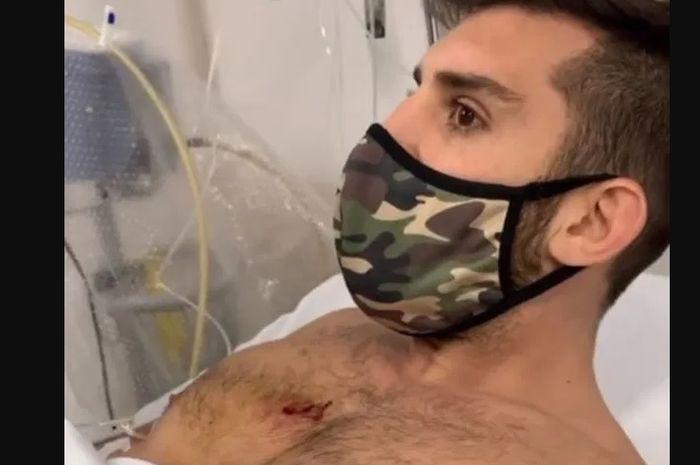 Petarung asal Argentina, Bruno Canetti, menjadi korban penembakan begal motor.