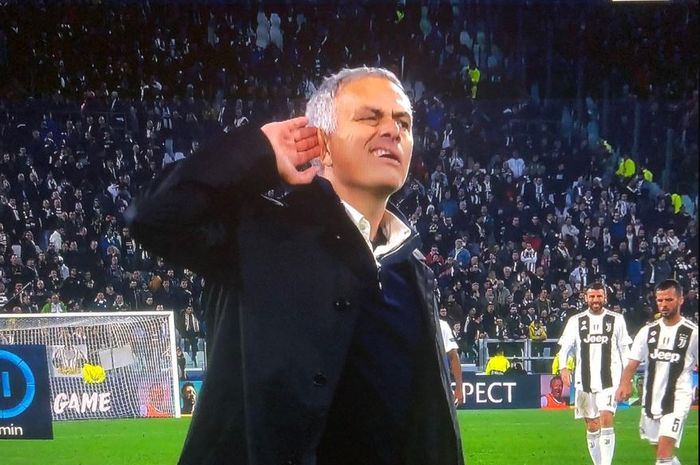 Jose Mourinho dalam laga Liga Champions Juventus vs Manchester United