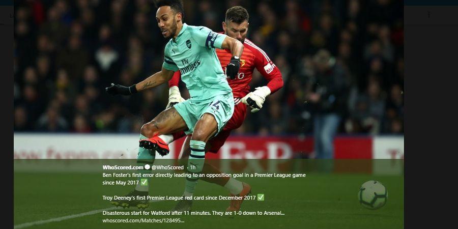 Hasil Liga Inggris - Blunder Konyol Eks Manchester United Antar Arsenal ke Posisi 4