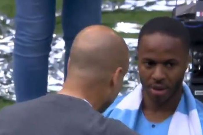 Pelatih Manchester City, Pep Guardiola, memarahi Raheem Sterling seusai laga.