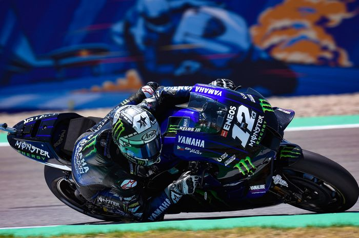 Pembalap Yamaha Monster Energy, Maverick Vinales.