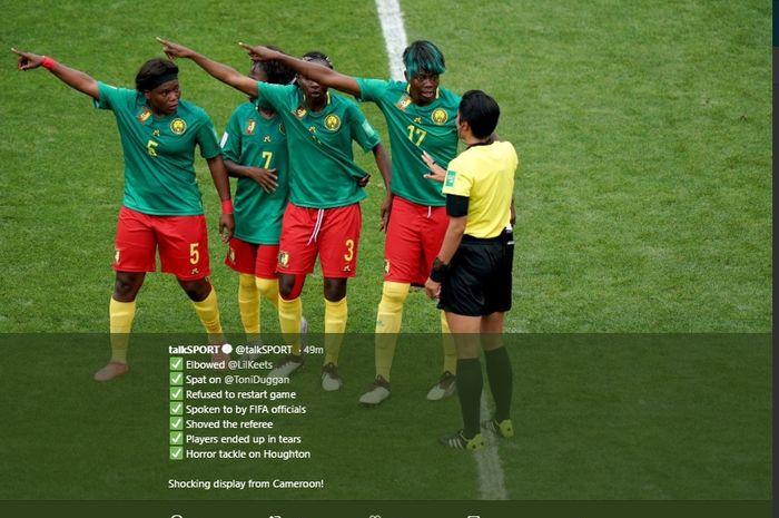 Piala Dunia Wanita 2019 - VAR Bikin Pemain Kamerun Menangis dan Tuduh FIFA Lakukan Aksi Rasialis