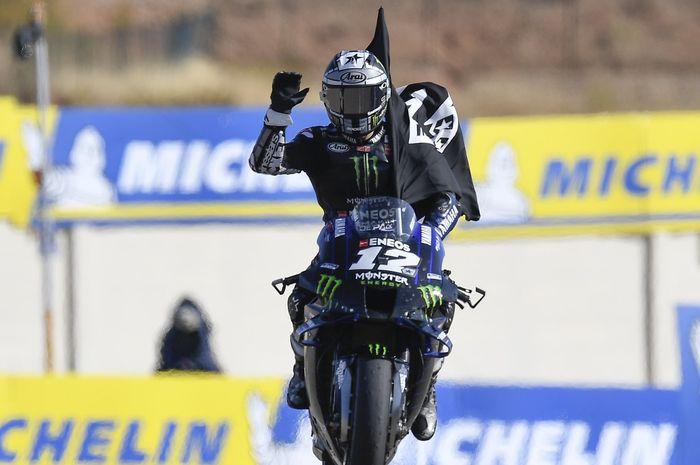 Gagal meraih podium di balapan MotoGP Aragon 2020, Maverick Vinales malah merasa senang, ini alasannya