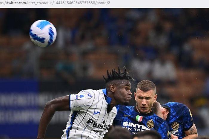 Inter Milan apes dalam laga Liga Italia yang hujan empat gol, top scorer gol jarak jauh muncul di Giuseppe Meazza.
