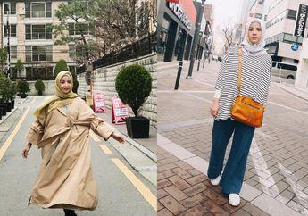 Ini Gaya Natasha Rizky Padu Padan Busana Muslim di Negeri Ginseng