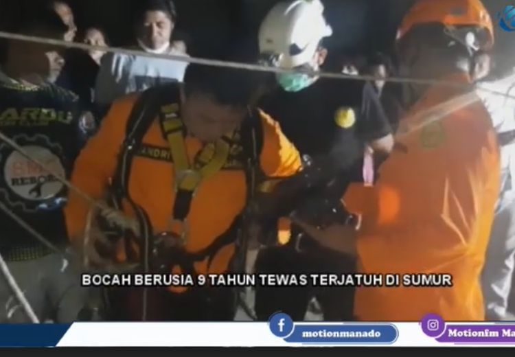 Tim Sar Manado Berhasil Evakuasi Bocah Jatuh ke Dalam Sumur