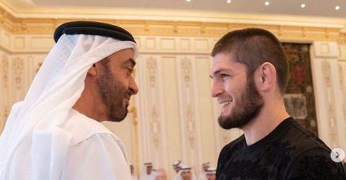 Khabib Nurmagomedov mendapat jamuan dari Pangeran Abu Dhabi, Sheikh Mohamed bin Zayed Al Nahyan.