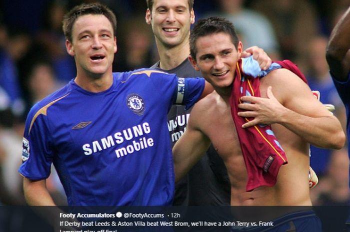 John Terry dan Frank Lampard saat masih sama-sama berseragam Chelsea