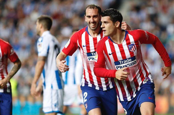 Penyerang Atletico Madrid, Alvaro Morata.