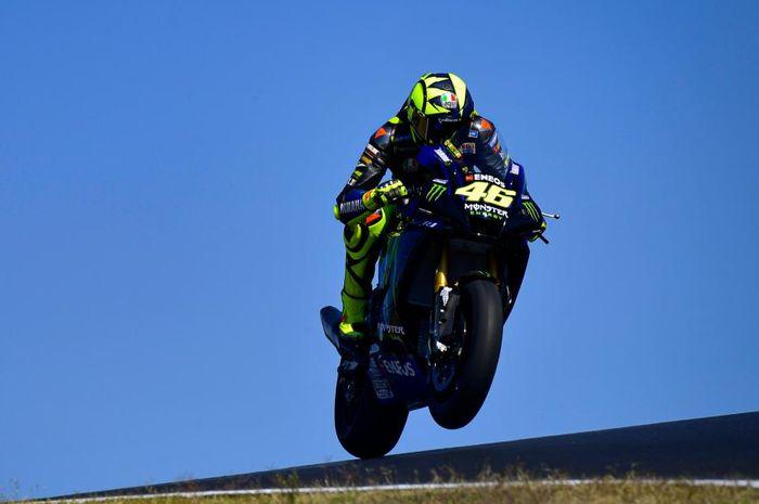 Valentino Rossi menjajal sirkuit Portimao dalam sesi tes yang berlangsung pada bulan Oktober lalu