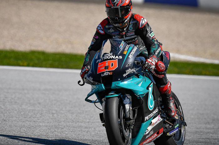 Pembalap MotoGP dari tim Petronas Yamaha SRT, Fabio Quartararo.