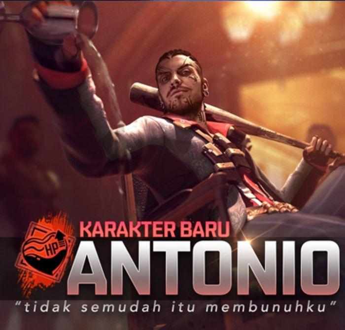 Update Free Fire karakter baru Antonio