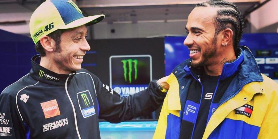 Lewis Hamilton Bakal Lebih Beruntung daripada Valentino Rossi Saat 'Tukar Nasib'
