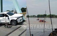 Honda Vario Tertabrak Truk, Pengendara Mental Ke Sungai Belum Ditemukan